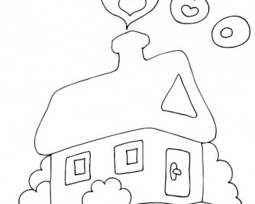 Home drawing black and white