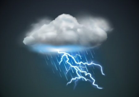 Weather cloud w lightning