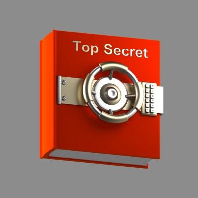 Top secret in red